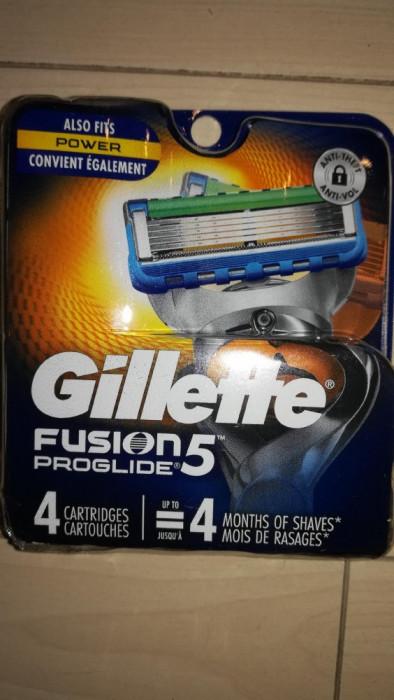 Rezerve Gillette Fusion Proglide power set 4 buc ( made in USA)
