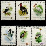 ANGOLA 1984, Fauna, Pasari, serie neuzata, MNH