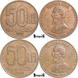 1992, 50 Lei (set complet, 2 variante) - Romania