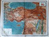 Hărți vechi Turcia și Rusia (R. S. F. S. R.), planse atlas C. Teodorescu 1924