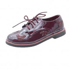 Pantofi eleganti fetite MRS M2006V, Bordo