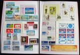 Clasor Romania 321 timbre + 15 colite + 8 blocuri, serii complete nestampilate, Romania de la 1950
