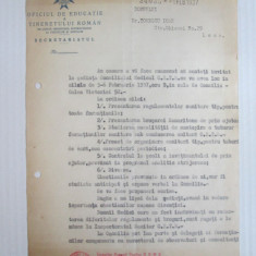 Cumpara ieftin Rara! Invitatie cu antet la sedinta consiliului medical O.E.T.R. februarie 1937