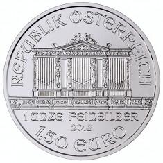 Moneda argint lingou Austrian Silver Philharmonic 1 uncie = 31 grame