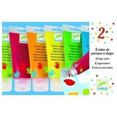6 culori de pictat cu mâna,Djeco