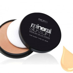 Pudra Compacta Profesionala Ingrid Cosmetics Mineral Silk Lift 23 Golden Beige