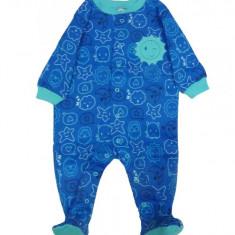 Salopeta / Pijama bebe cu desene Z101, 1-2 ani, 1-3 luni, 12-18 luni, 3-6 luni, 6-9 luni, 9-12 luni, Albastru