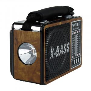 Radio portabil, aspect retro, 3 benzi, port USB, SD, MP3, lanterna