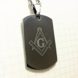 Pandantiv masonic - military tag