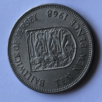 i171  JERSEY 10 NEW PENCE 1968 foto