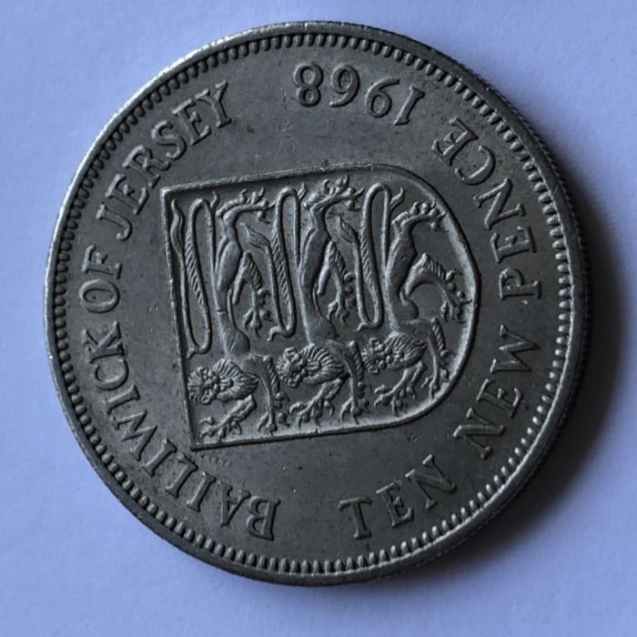 i171  JERSEY 10 NEW PENCE 1968