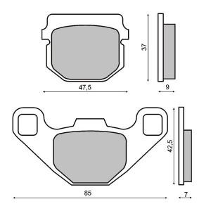 Placute frana Keeway 50-125/ Peugeot Buxy RS /Elyseo /Speedfight LC Cod Produs: MX_NEW 225100040RM