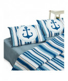 King size bed set - navy 100% cotton 144tc. description