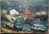 Marina// ulei pe carton, Nicolae Georgescu Balamuc, Arbori, Altul