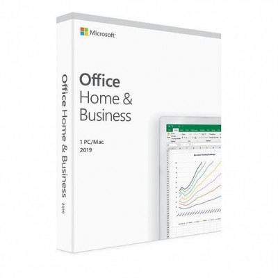Microsoft Office Home and Business 2019 ENG, 32-bit/x64, 1 PC, Medialess - FPP foto