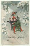 cp Sarbatori fericite ! - 1929, circulata, timbre