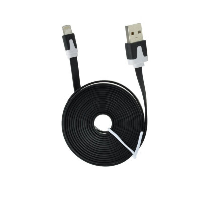 Cablu Date & Incarcare Plat APPLE Lightning - 2 Metri (Negru) foto