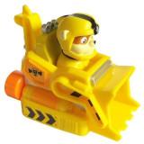 Figurina cu vehicul de salvare Paw Patrol - Rubble vehicul de munca