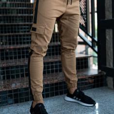 Pantaloni training cargo bărbați camel Bolf 11117