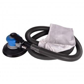 Slefuitor pneumatic cu sac si furtun, Bass BS-4326, diametru 150 mm, oscilatie 3 mm, prindere Velcro foto