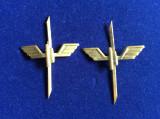 Insigne militare -Insigne România-Semne de armă-Căi Ferate -CFR (culoare aurie)