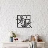 Decoratiune pentru perete, Ocean, metal 100 procente, 49 x 40 cm, 874OCN1043, Negru