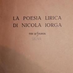 LA POESIA LIRICA DI NICOLA IORGA - ADRIANA RIBETTI