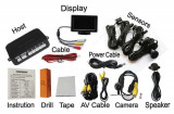 Senzori parcare cu camera video si display LCD de 4.3 S602, Carguard