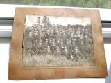 3066-I-Promotia General Dragalina foto veche grup ofiteri romani cu semnaturi...