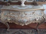 Comoda baroc venetian/Ludovic,mobila veche/vintage/antic,lemn,pictata,Italia, Comode si bufete, 1900 - 1949