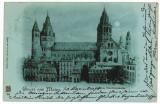 10077 - 5731 MAINZ, Dom, Litho, Germany, Germania - old postcard - used - 1898