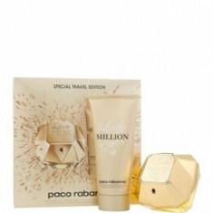 Set cadou Paco Rabanne Lady Million (Apa de parfum 80 ml + Lotiune de corp 100 ml), pentru femei