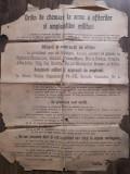 Afis Ordin de chemare la arme a ofiterilor 1919 Consiliul Dirigent Roman