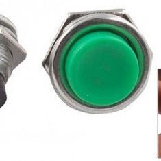 Push buton fara retinere, verde, 3A, 125V, 24x19mm - 124733