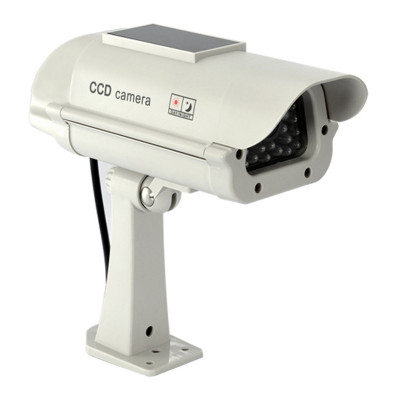 Camera solara falsa cu led intermitent Dummy Cam, 2 x AA foto