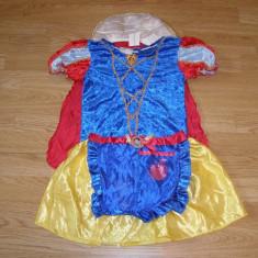 costum carnaval serbare alba ca zapada pentru copii de 4-5 ani
