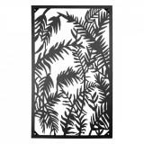 Decoratiune de perete din fier maro 55 cm x 3 cm x 92 cm, Clayre & Eef