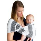 Sistem Purtare Baby K'tan Baby Carrier Print - Charcoal Stripe - Marimea M