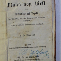 DER MANN VON WELT von J. O. WENZEL , 1855