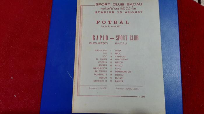 program SC Bacau - Rapid