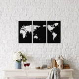 Cumpara ieftin Decoratiune pentru perete, Ocean, metal 100 procente, 29 x 49 cm, 3 piese, 874OCN1003, Negru