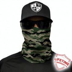 Bandana/Face Shield/Cagula/Esarfa - Green Military Camo, made in USA