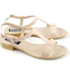 Sandale dama Bej din piele naturala - Made in Romania S16NUD