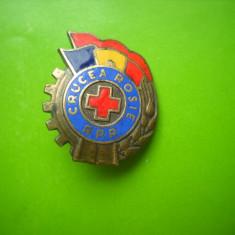 HOPCT ROMANIA INSIGNA VECHE  CRUCEA ROSIE  RPR [ 24 ]