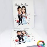 Invitatie de nunta caricatura personalizata
