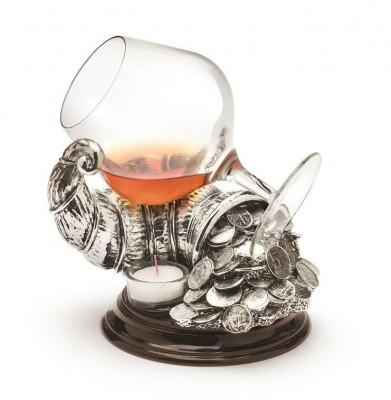 CORNUL ABUNDENTEI Cornucopia Silver Warmer by Chinelli Made in Italy foto