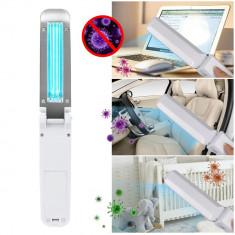 Cumpara ieftin Lampa UVC bactericida portabila tip bagheta, pentru sterilizare, 3W