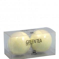 Set 2 Bile Efervescente de Baie TREETS cu Ceai Verde 2 x 180 gr