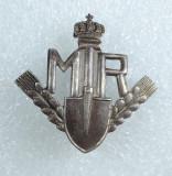 Insigna M.T.R. – Munca Tineretului Roman, organizație paramilitară (1942-44)