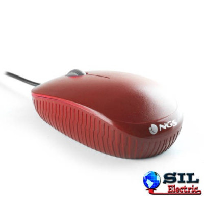 Mouse USB 1000 dpi rosu Ngs foto